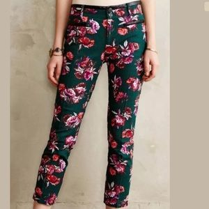 Floral Career ankle pants size 2